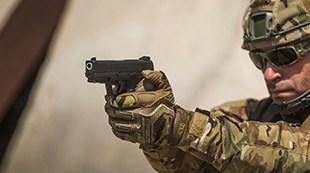 Soldier holding Masada Striker
