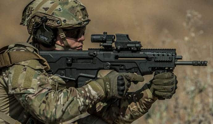 soldier with tavor 7